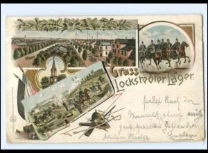 Y11465/ Gruß vom Locksteder Lager Litho Ak 1897