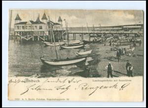 U4935-173./ Ahlbeck Landungsbrücke AK 1903