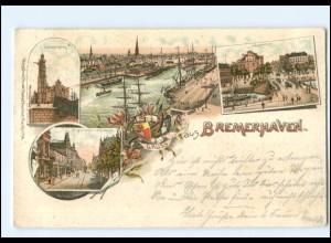 U5094/ Gruß aus Bremerhaven 1901 Litho AK