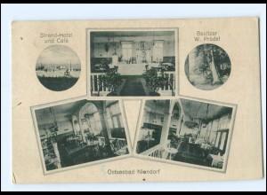 U5143/ Niendorf Strand-Hotel und Café 1919 AK