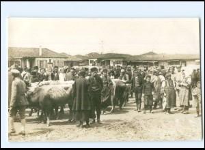 U4949/ Prilep Marktplatz 1917 Mazedonien Foto AK