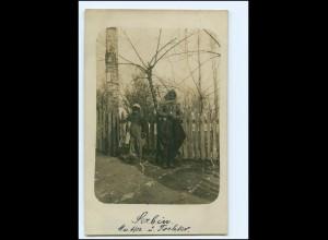 Y11595/ Serbien Mutter und Tochter Foto AK 1915
