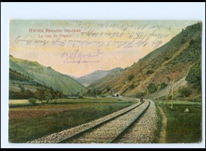 Y11598/ Vranie Vranje Serbien Eisenbahnstrecke AK 1915