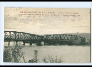 Y11611/ Stalatch-Krouchevac-Vrnjci Eisenbahnbrücke Serbien AK 1915