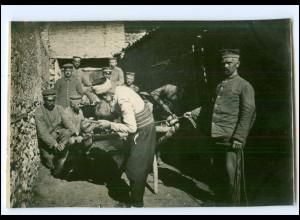 U5037/ Veles Hufschmied Türke beschlägt einen Ochsen Origin.Foto 1916 Mazedonien