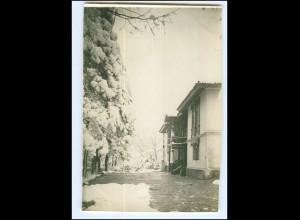 U6070/ Kragujevac Serbien 1915 Quartier im Schnee Original Foto 1. Weltkrieg