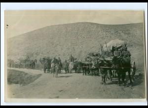U5038/ Veles 1. Kompanie Ochsenfuhrwerk Original Foto 1916 Mazedonien