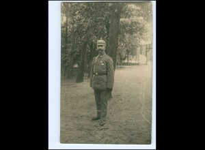 Y11592/ Soldat mit Pickelhaube Foto AK 1915
