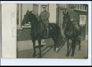 Y11761/ Soldaten zu Pferde Foto AK 1916