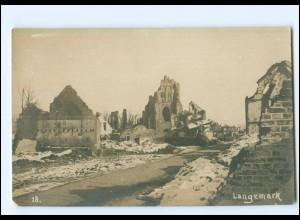 U5019/ Langemark Belgien Foto AK 1. Weltkrieg ca.1915