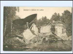 U5020/ Bahnhof in Betinow bei Lukow Polen zerstört 1. Weltkrieg AK 1916