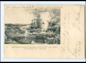 Y13672/ Gedenkfeier Erhebung Schleswig-Holsteins - Eckernförde AK 1898