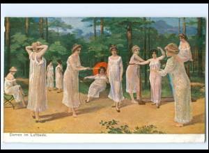 Y11472/ Frauen Damen im Luftbade Erotik AK ca.1912