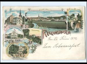 U5072-2217/ Gruß aus Kellinghusen Litho AK ca.1898