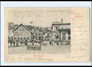 U5875/ Gruß aus Helgoland Kaiserstraße 1914 AK