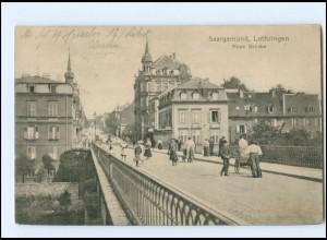 U5893/ Lothringen Saargemünd Neue Brücke 1916 AK