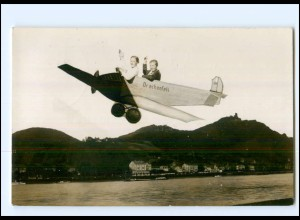 U6736/ Drachenfels Fotomontage Foto AK Flugzeug 1935