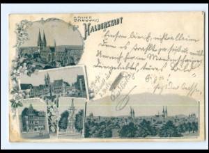 Y12455/ Gruß aus Halberstadt Litho AK 1900