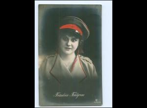 U5251/ Fräulein Feldgrau Frau in Uniform Foto AK WK1 1915