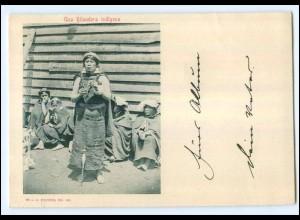 U6739/ Una Hilandera indigena Chile AK ca.1900