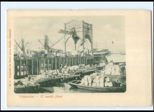 U5185/ Valparaiso El mulle fiscal Chile AK ca.1900