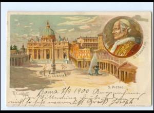 Y11625/ Vatikan Papst S. S. Leone XIII. Litho AK 1900
