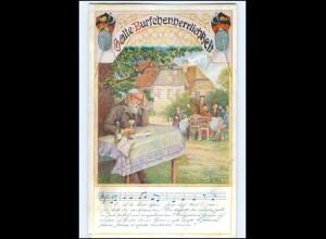 Y11740/ Deutscher Schulverein Nr. 149 Lieder AK ca.1914 Studenten Studentika