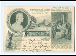 Y11585/ Friedrich Schiller und die Schweiz, Wilhelm Tell Schauspiel AK 1905