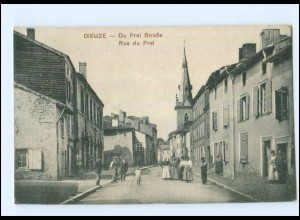 U5894/ Lothringen Dieuze Du Prel Straße 1912 AK