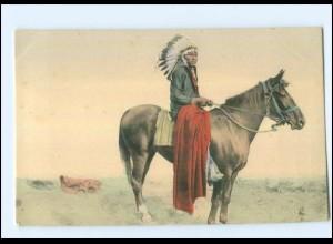 U5181/ Indianer zu Pferde USA Ak ca.1905