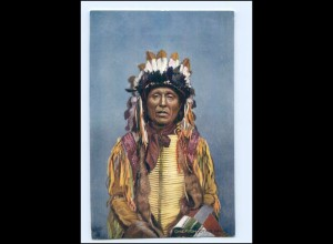 U5388/ Indianer Indians Chief Shooting Hawk Tuck`s AK ca.1910