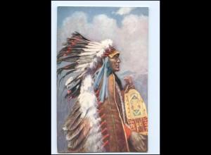 U5390/ Indianer Indians Chief Stranger Horse Tuck`s AK ca.1910