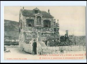 U5370/ Salvatem - Plyrimam - E- Rvinis - Salonae Dalmatien Kroatien AK ca. 1910