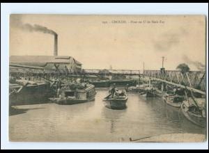 U5301/ Cholon Pont en U de Binh-Tay Saigon Vietnam AK ca.1912