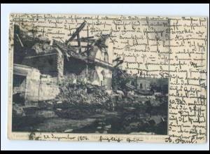 U5481/ Valparaiso Chile Erdbeben Teatro de la Victoria Zerstört AK 1906