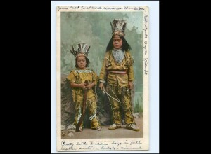 U5401/ Indianer Indians Young Braves AK 1906 USA