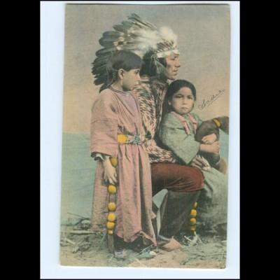 U5405/ Indianer Indians AK ca.1905 USA