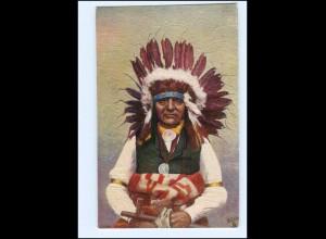 U5397/ Indianer Indians Chief White Swan Tuck`s AK ca.1910