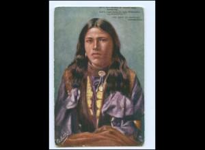 "U5395/ Indianer Indians ""Hiawatha"" Tuck`s AK ca.1910 USA"