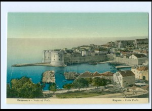 U5308/ Dubrovnik Ragusa Porta Ploce Hafen Kroatien 1909 AK