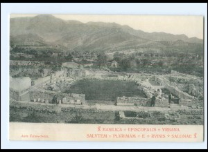 U5408/ Salvatem - Plyrimam - E- Rvinis - Salonae Dalmatien Kroatien AK ca. 1910