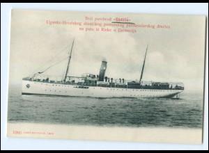 U5377/ Dampfer Gödöllö Ugarsko-Hrvatskog Rieke Rijeka Kroatien AK 1909