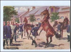 Y11584/ Deutscher Kriegferbund Pferdeapell Soldaten Militär Ak 1912