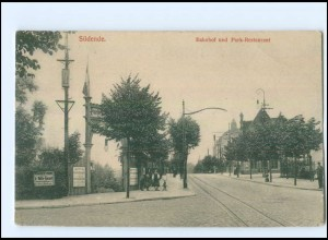 U5275/ Berlin Südende Bahnhof und Park-Restaurant AK ca.1912
