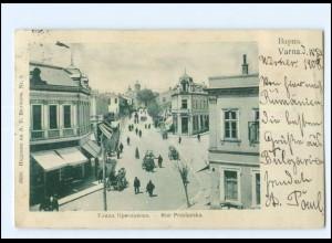 U5261/ Varna Rue Preslavska Bulgarien AK 1908