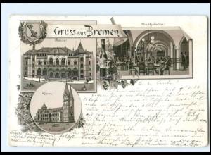 Y12457/ Gruß aus Bremen Litho AK 1897
