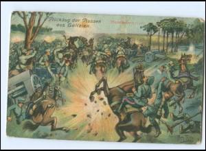 U6737/ Arthur Thiele AK Rückzug der Russen aus Galizien 1. Weltkrieg AK 1916