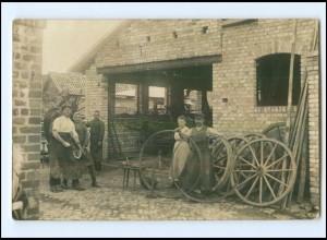 U5474/ Schmied Hufschmied Berufe Privat Foto AK ca.1910