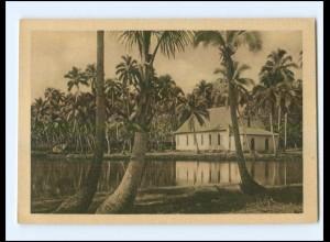U5433/ Lagune u. Kirche von Sasune Savaii Samoa WHW AK 1933/34 Kolonien