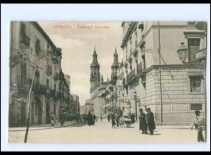 U5455/ Logrono Calle del Mercado Spanien AK ca.1912